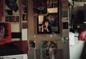 My room at Spanish House, with Sarah Lum, 1985